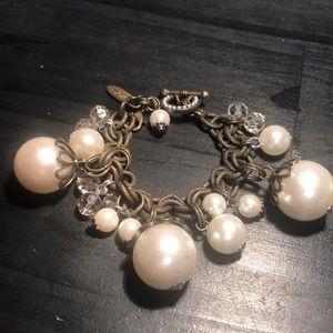 Plunder Design huge faux pearl bobble bracelet